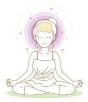 ヨガ・瞑想のポーズ・女性