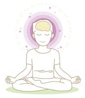 ヨガ・瞑想のポーズ・男性