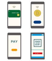 スマートフォンでできる支払い方法。