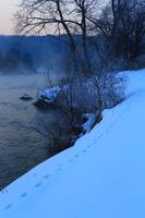北上川の冬景色
