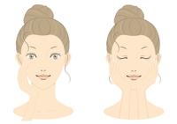 若い女性の美容イメージ フルカラー02