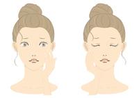 若い女性の美容イメージ フルカラー03