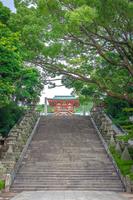 防府天満宮 参道の石段