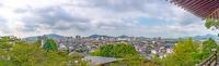 防府天満宮からの防府市街地の眺望