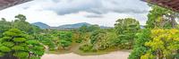 毛利氏庭園と防府市街地の眺望