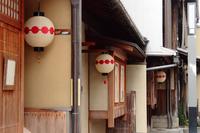 京都 上七軒の町並み