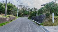 春の大多喜城の大手門跡の風景