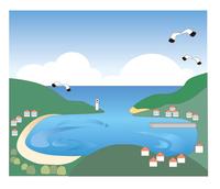 湾と港の風景