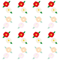 椿の花の背景イラスト