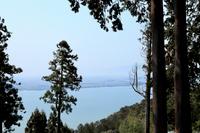 長命寺から見る琵琶湖