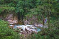 特別名勝三段峡 石樋の情景