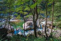 特別名勝三段峡 蓬莱岩