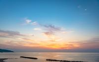 出雲 キララビーチの夕景