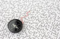 方位磁針と迷路