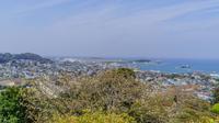 春の館山城跡から見た風景