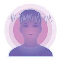 脳波のイメージ03 透明