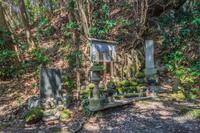 春の館山城跡の八遺臣の墓