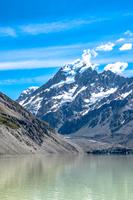マウントクック国立公園のフッカー湖