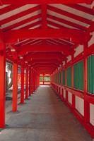 日御碕神社 朱塗りの廻廊
