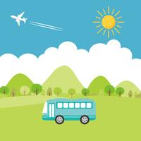 夏の街並み バスでお出かけ