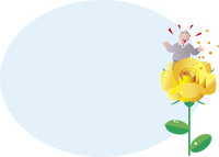 父の日の黄色いバラ