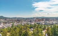 松江城天守からの松江市街地の眺望