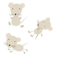 三匹のネズミのイラスト