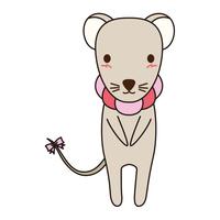 メスのネズミのイラスト