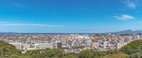 米子城天守跡からの米子市街地の展望