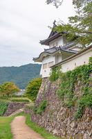 出石城 二の丸跡と本丸西隅櫓