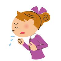 咳をする女の子