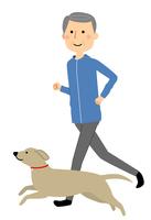 シニア男性 ジョギング