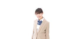制服を着た笑顔の学生