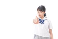 怒る女子学生