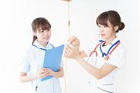 病院で働く若い看護師
