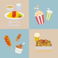 日本の食べ物(オムライス・屋台メニュー)