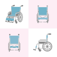 車椅子 4つのアングル