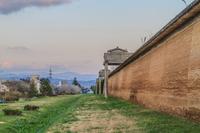 春の志波城跡の風景