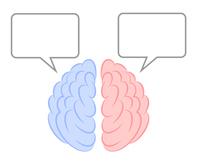 脳 右脳 左脳 大脳 イラスト 漫画