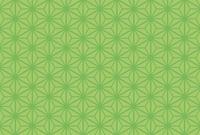 横向きはがき比率の麻の葉模様(グリーン)