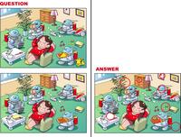 間違い探しクイズ、ホームロボット