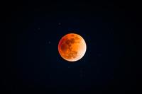 皆既月食のイメージ