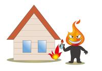 火の用心・住宅とライターの放火魔