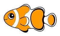 カクレクマノミ Clownfish キャラクター イラスト クリップアート