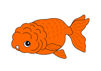 金魚 Goldfish らんちゅう Ranchu キャラクター イラスト クリップアート