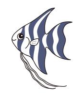 エンゼルフィッシュ Angelfish キャラクター イラスト クリップアート