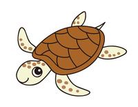 ウミガメ sea turtle キャラクター イラスト クリップアート