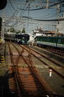 京阪電鉄の車窓風景