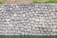 背景素材 二条城石垣