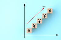 日本円の積み立てイメージ